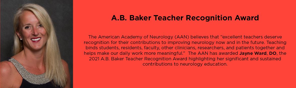 A.B. Baker Teacher Recognition Award
